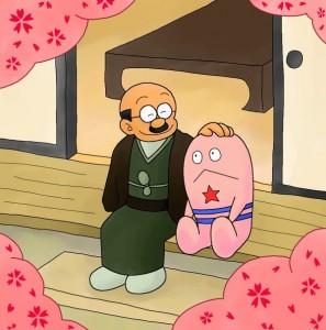 神成さんとドロンパ